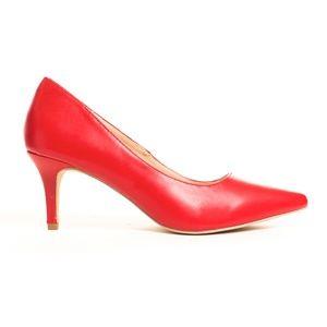 Women's Pointy Toe Kitten Low Heeled Pump